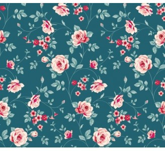 Floral Love Removable Wallpaper pattern