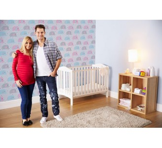 Happy Elephants Removable Wallpaper nursery