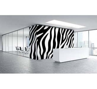 Zebra Style Removable Wallpaper office