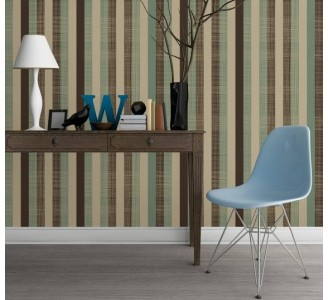 Vintage Stripes Removable Wallpaper full view