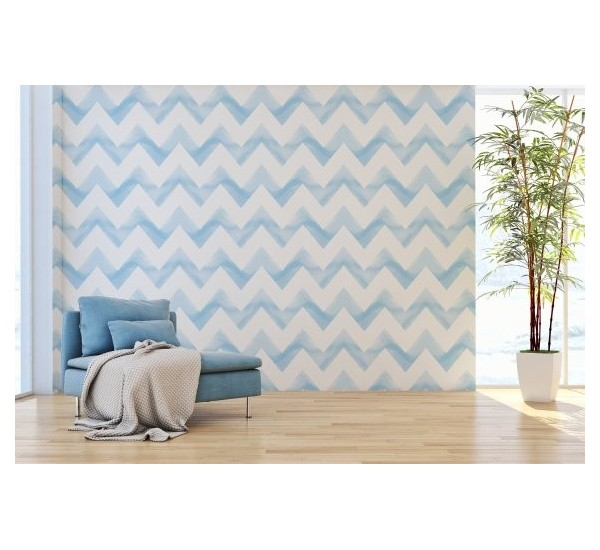 Watercolor Waves Removable Wallpaper