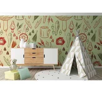 Woodland Nest Removable Wallpaper