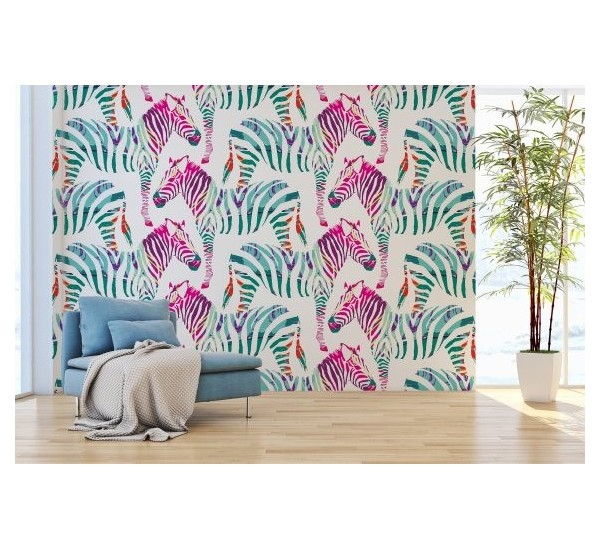 Pinky Zebra Removable Wallpaper