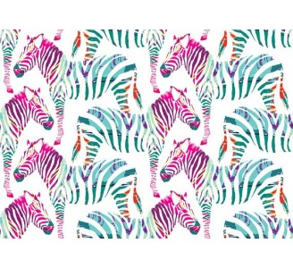 Pinky Zebra Removable Wallpaper pattern