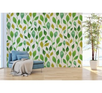 Spring Leaves Removable Wallpaper