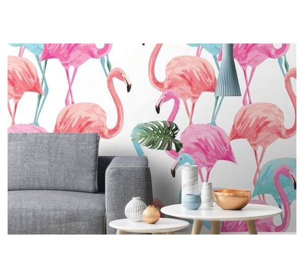Pinky Flamingo Removable Wallpaper