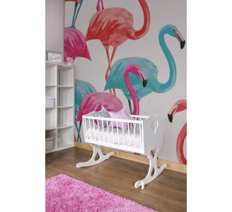 Pinky Flamingo Removable Wallpaper nursery
