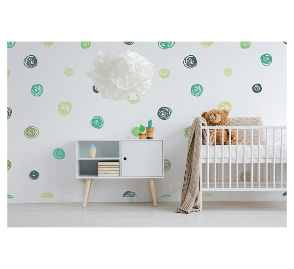 Cute Dots Removable Wallpaper