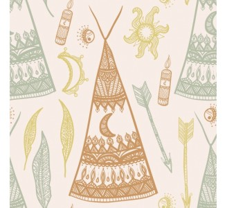 Bohemian Teepees Removable Wallpaper pattern