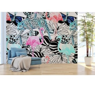 Amazon Wildlife Removable Wallpaper