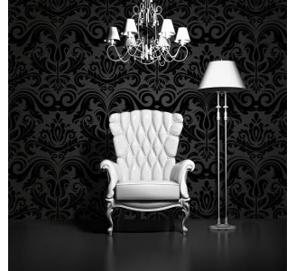 Vintage Dark Luxury Removable Wallpaper full view