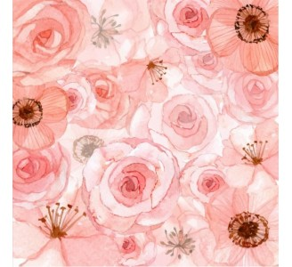 Calm Pink Roses Removable Wallpaper pattern