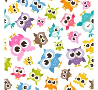 Lovely Owls Removable Wallpaper pattern