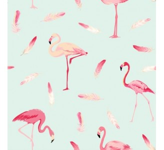 Flamingo Time Removable Wallpaper pattern