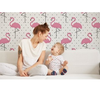 Flaming Removable Wallpaper kids