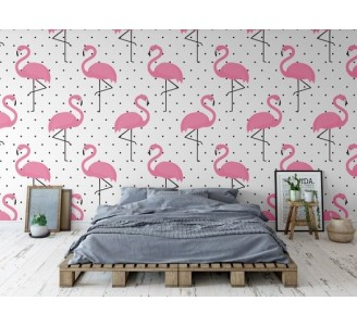 Flaming Removable Wallpaper bedroom