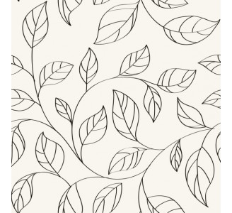 Minimalistic Leaves Removable Wallpaper pattern