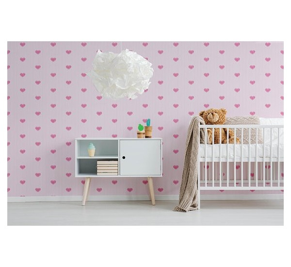 Subtle Hearts Removable Wallpaper
