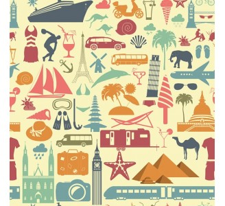 Through the World Removable Wallpaper pattern
