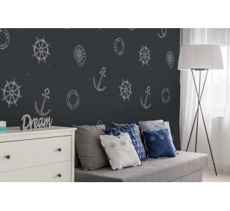 Marine Dreaming Removable Wallpaper living room