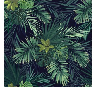 Tropical jungle Removable Wallpaper pattern