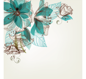 Retro flowers Removable Wallpaper pattern