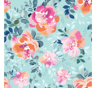 Soft pink flowers Removable Wallpaper pattern