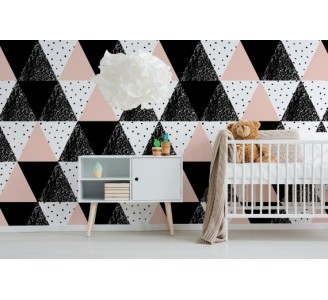 Pink triangles Removable Wallpaper